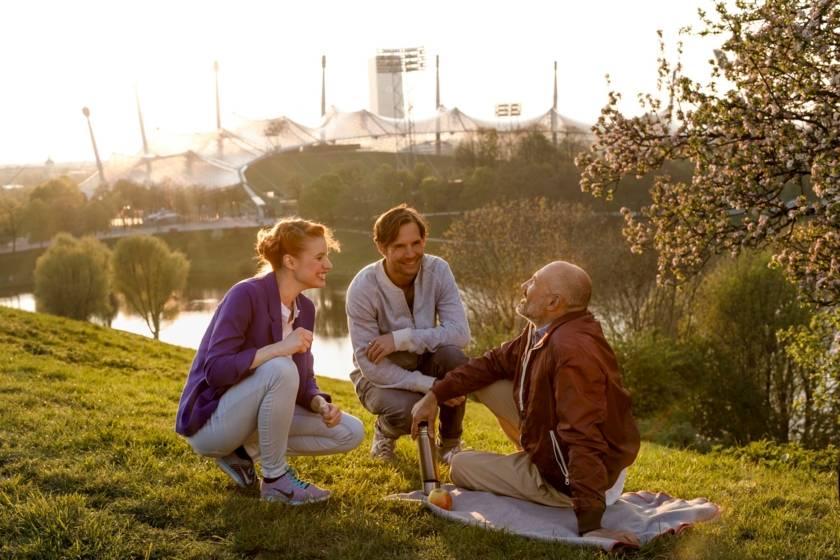 Frühling Olympiapark Picknick 1437