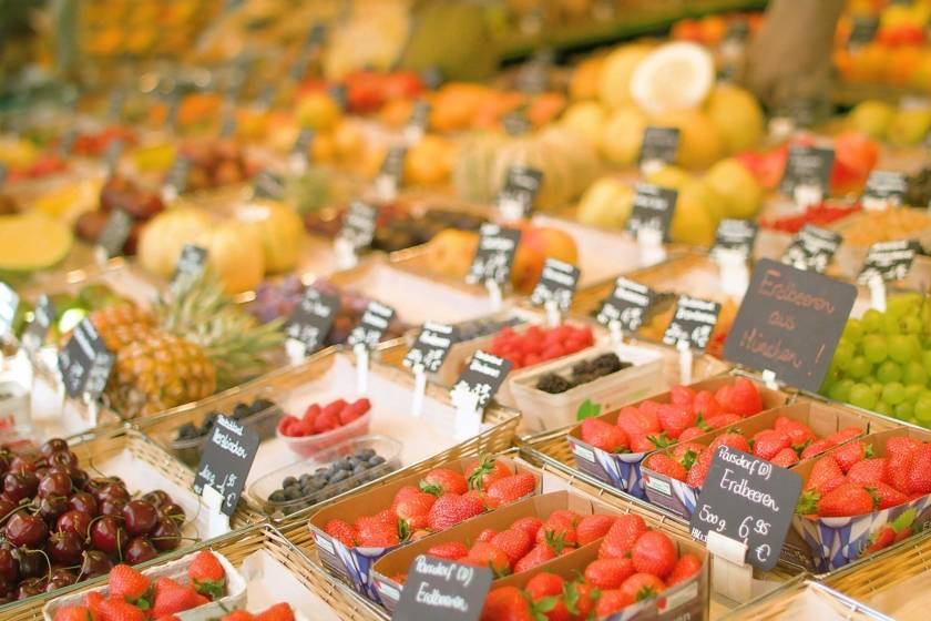 Viktualienmarkt Obst Redline Still 1528