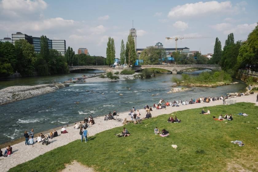 Reichenbachbrücke Isar Sommer dm046