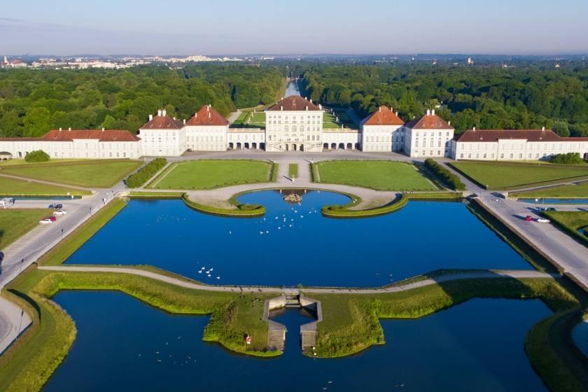 Schloss Nymphenburg Drohne RE0050