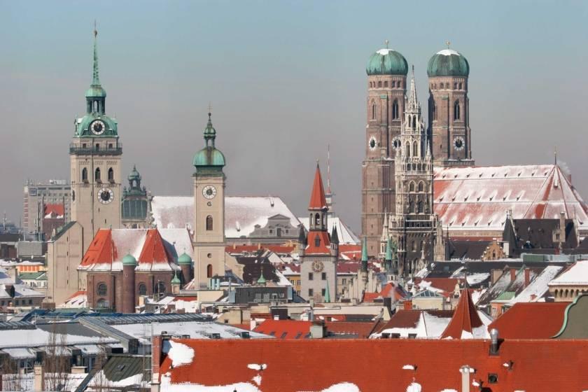 Stadt-Panorama im Winter 1273