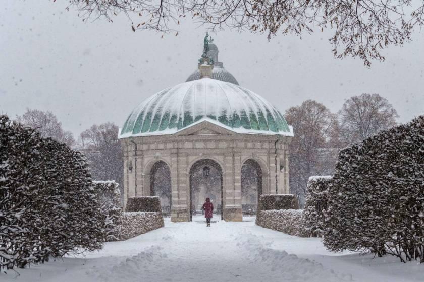 Dianatempel Hofgarten Winter