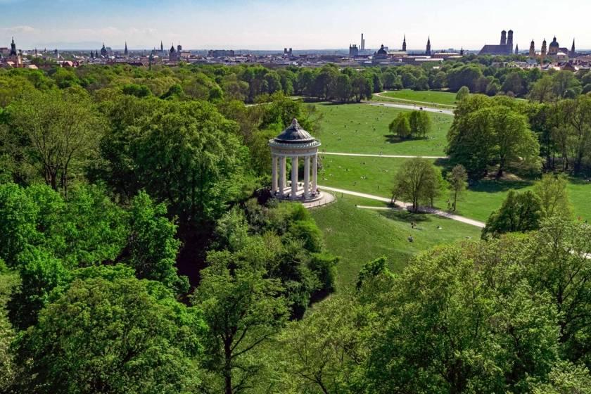 Englischer Garten Monopteros Panorama Redline
