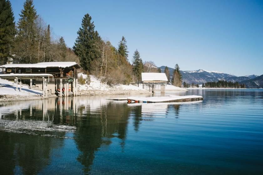 Walchensee Bootshäuser dm0076