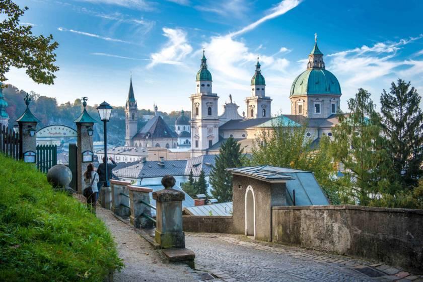 Salzburg Dom vom Stieglkeller