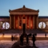 """In the installation """"Inside   Out"""", among other things, exhibits from the exhibition of the State Collections of Classical Antiquities are projected onto the façade."""