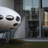 What stands in front of the Pinakothek der Moderne and looks like a UFO is the Futuro House by Finnish architect Matti Suuronen.