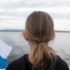 What thoughts go through a child's mind when looking at the lake?