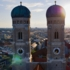 The north tower of the Frauenkirche measures 98.57 metres, while the south tower is somewhat smaller at 98.45 metres.