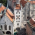 The heart of the old town - Marienplatz with the Old Town Hall from above.