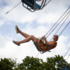 Our author flies - in a chain carousel on the Mariahilfplatz.