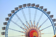 One of the best places for a date at the Oktoberfest is a ride with the Giant Ferris Wheel.