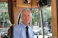 One of the few tram drivers who can drive the historic MünchenTram.