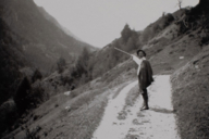 One of many photographs by Münter: Kandinsky hiking in South Tyrol.
