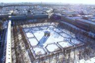 The Dianatempel stands almost stately in Munich's snowy Hofgarten.