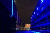 The installation Licht | Spiele by Christian Gasteiger at Museum Brandhorst