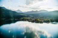 Lake Tegernsee in the vicinity of Munich in the evening light.