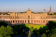 The Maximilianeum, located on the banks of the river Isar, accommodates ministers and students under one roof.