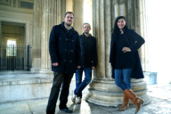 The artists of We Are Video: Raphael Kurig, Christian Gasteiger and Betty Mü
