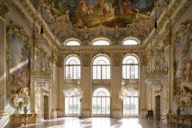 The Steinerner Saal (Stone Hall) in Nymphenburg Palace has remained unchanged since its completion in 1758.