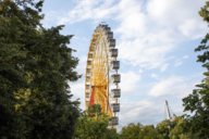 The sky above the Olympic Park: A ride on the Ferris Wheel is rewarded with uplifting views.