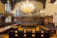 Hogwarts sends his regards: in the small meeting room of the Neues Rathaus on Munich's Marienplatz.