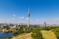 The elevator of the Olympic Tower brings its visitors in seven metres per second up to the viewing platform. Enjoy a fantastic view!