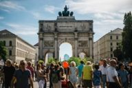 During the Streetlife Festival and other street festivals, Ludwigsstraße belongs to the pedestrians.