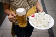 Typically Bavarian: A measure of beer and sliced radi.