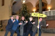Dr. Frank-W. Strathmann (LMU Transfer Office), Wolfgang Kerkhoff (MCA e.V.), Geraldine Knudson (Munich Tourism), Sabine Beutlhauser (LMU Congress Center), Clemens Baumgärtner (Department of Labour and Economic Affairs)