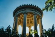 The famous Monopteros in the English Garden was built in classical Greek style.