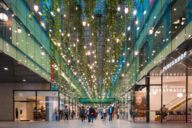 """A real eye-catcher in the shopping arcade """"Fünf Höfe"""" are the """"Hanging Gardens"""" by artist Tita Giese."""