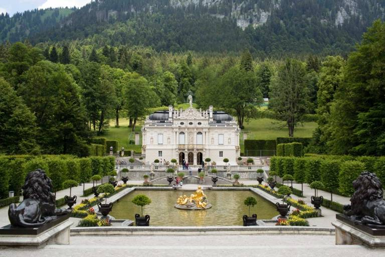 Schloss Linderhof in the hinterland of Munich.