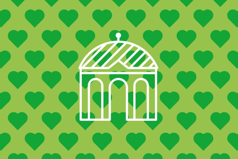 Dianatempel icon on green structure