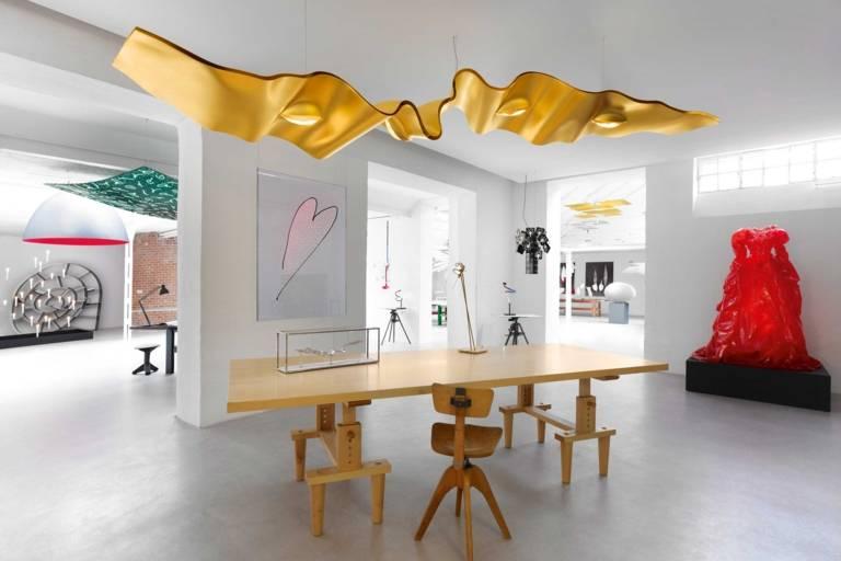 Showroom of the lighting designer Ingo Maurer in Schwabing in Munich.