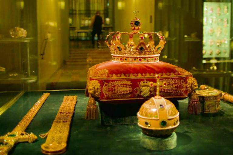 The Bavarian King's Crown in the Treasury of the Residence in Munich