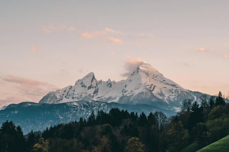 Watzmann in the Berchtesgadener Land at sunset in the surroundings of Munich.