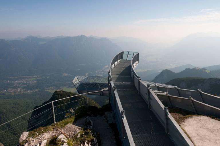 View from the Zugspitze in Bavaria.