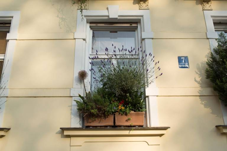 Facade of a building in the Werneckstrasse in the Schwabing district in Munich