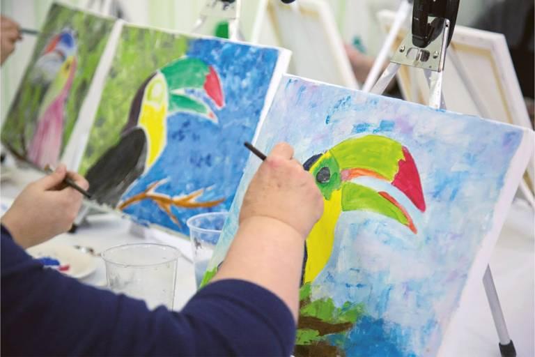 Painter at the Creative Fair