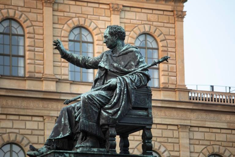 The monument to Max I. Joseph in front of the Residenz
