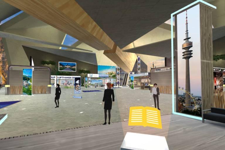 Munich Tourism's stand at the Virtual Travel Fair Asia.