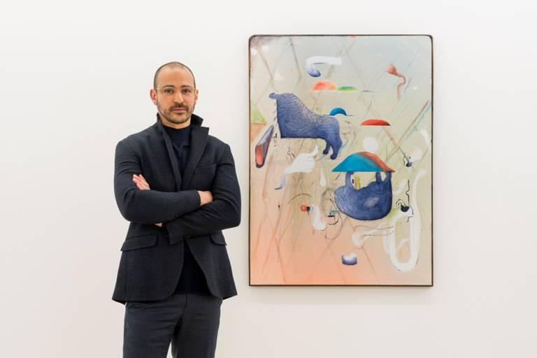 A portrait of the Munich gallery owner Nir Altmann