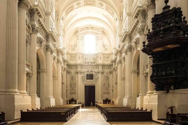 Interior view of the Theatinerkirche in Munich.