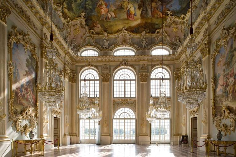 Great Hall in Nymphenburg Palace in Munich.