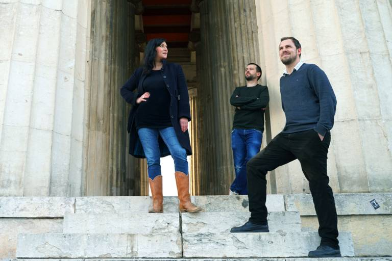 The artists of We Are Video: Betty Mü, Christian Gasteiger and Raphael Kurig