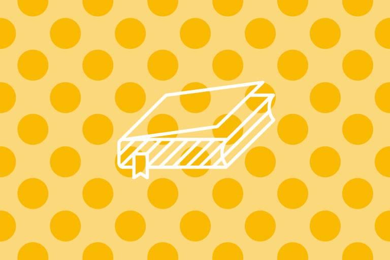 Buch-Icon auf gelber Struktur