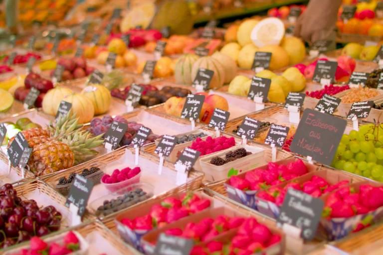 Fruits at Viktualienmarkt in Munich