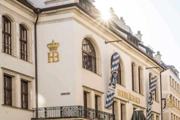 Facade of the Hofbräuhaus in Munich.