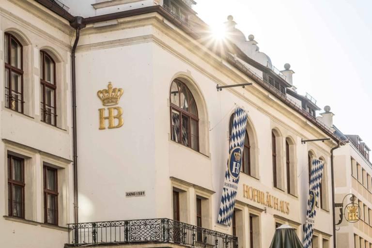 Facade of the Hofbräuhaus in Munich.